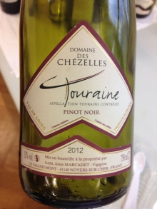 Touraine 2012, France (Pinot Noir)